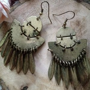 Boho vintage feel earrings
